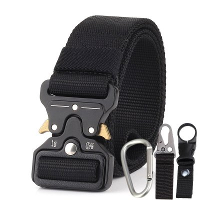 Men Tactical Belt Black