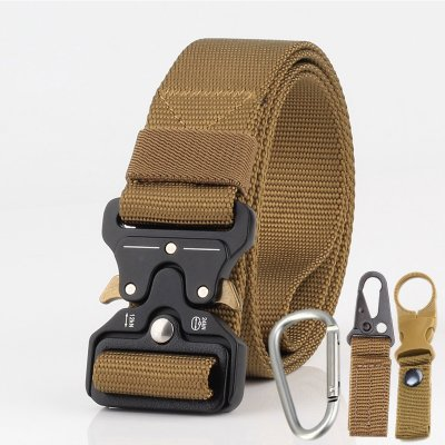 Men Tactical Belt Brown
