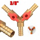 3/8in 10mm Brass Y 3-Way Shut off Ball Valve Fitting Hose Barb Fuel Gas Clamp Tee Gas three-way switch ball valve