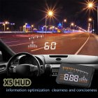 3  Car HUD Projector Head Up Display Speed Warning Fuel OBD II Speedometer