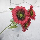 3 Heads Sunflower Artificial Flowers Bouquet Home Wedding Decor DIY Crafts red_63cm