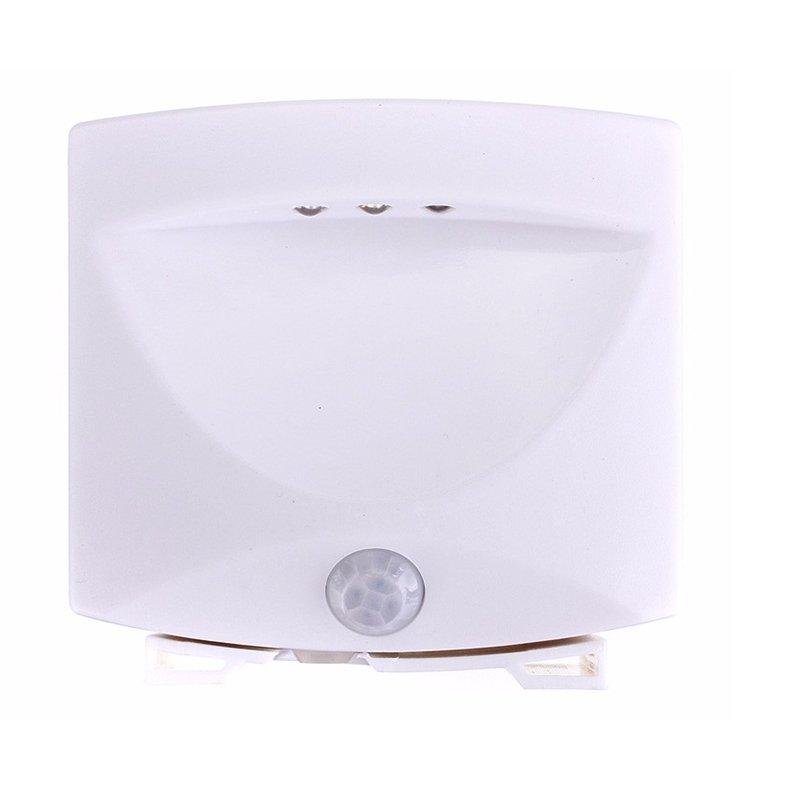 3 LED Indoor & Outdoor Mighty Light Motion & Light Sensor Activated Induction Light Nightlight White