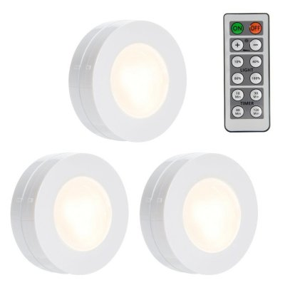 3 Packed LED Puck Closet Light