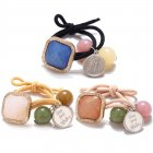 3 Pcs/set  Hair Rope Round Bead Shape Multicolor Rubber Band