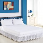 3 Sided Elastic Princess Style Lace Wrapped Drop Bed Skirt Decoration