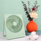 3 Speed Mini Fan Portable USB Desktop Cooling Fan with 180 Degree Adjustable for Office Household Traveling green_14.3 * 3.2 * 17.4cm