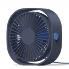 3 Speeds Mute USB Fan 360Degree Rotating Adjustable Portable Cooling Fan for Office Travel blue