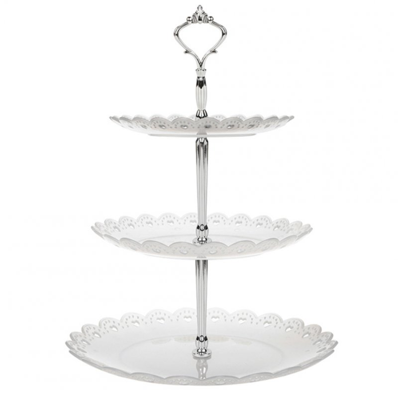 3 Tier Cake Stand Afternoon Tea Wedding Plates Party Display Rack Cake Decorating Tool Transparent