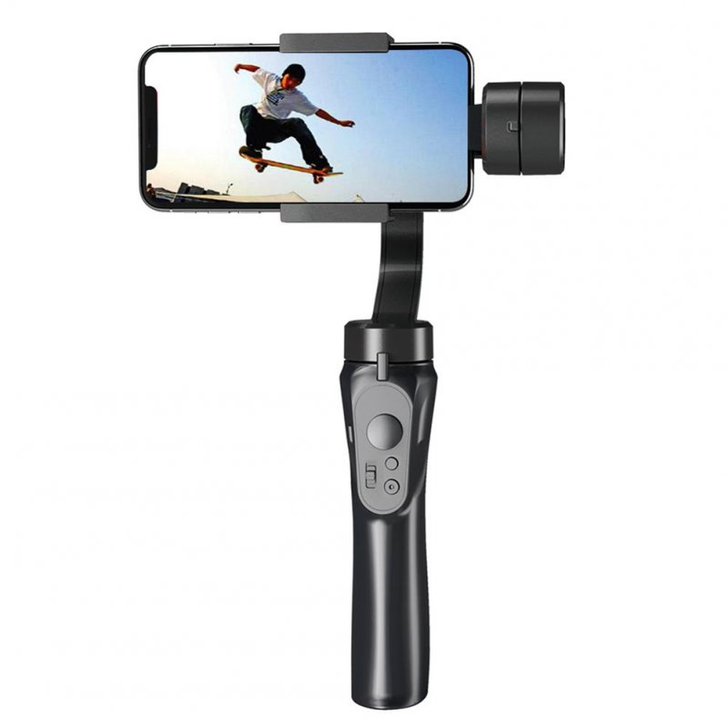 3-axis Handheld Universal Stabilizer Gimbal for Camera Phone Samsung Galaxy Smartphone Travel H4 black