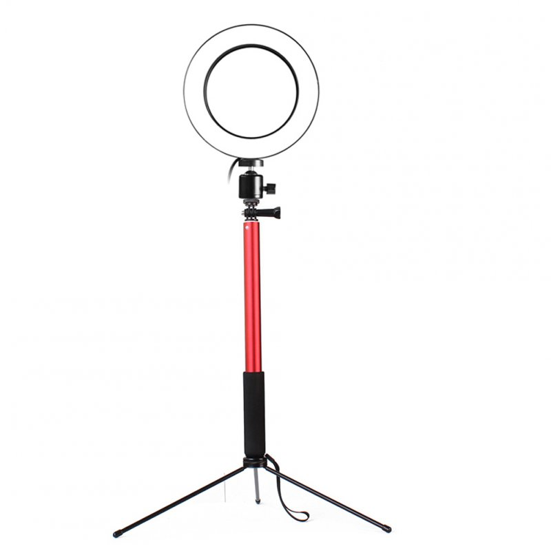 3 in 1 LED Ring Light Red 16CM