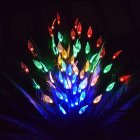 3 in 1 LED Solar Lawn Light Leaves Branch Shape Lamp for Outdoor Garden Yard Decoration color leaves branch lights