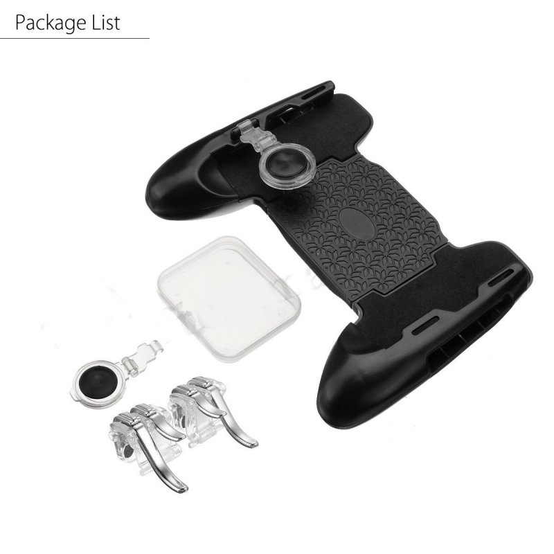 3 in 1 Mobile Gaming Gamepad Joystick +Controller Trigger + Fire Button for PUBG As shown