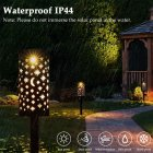3 in 1 Solar Light Outdoor Iron Art Moon Star Shadow Lantern Hanging Lamp for Decoration warm light
