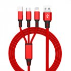 3 in 1 USB Cable red