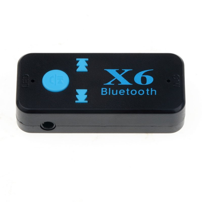 3 in 1 X6 USB Wireless Bluetooth Music Audio Receiver 3.5mm Jack Dongle Adapter Car Kit Audio black