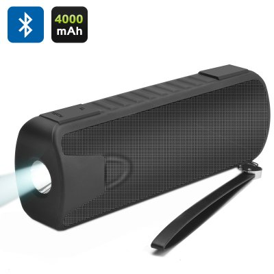 Speaker, Flashlight & Power (Black)