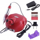 30000RPM Electric Nail Drill Manicure for Manicure Pedicure Nail File Polish Bits Tools Kits red