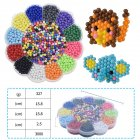 3000Pcs 5mm Water Spray Beads DIY 3D Puzzles Toy Hama Beads Magic Beads Educational Gift Water Perlen Learn Kids Toys Plum blossom