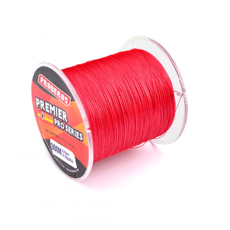 300M Fishing Line Red 0.37mm 27.2kg 60LB