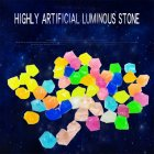 300pcs 14mm Luminous Gravel Garden Decoration Luminous  Stone Color mixing