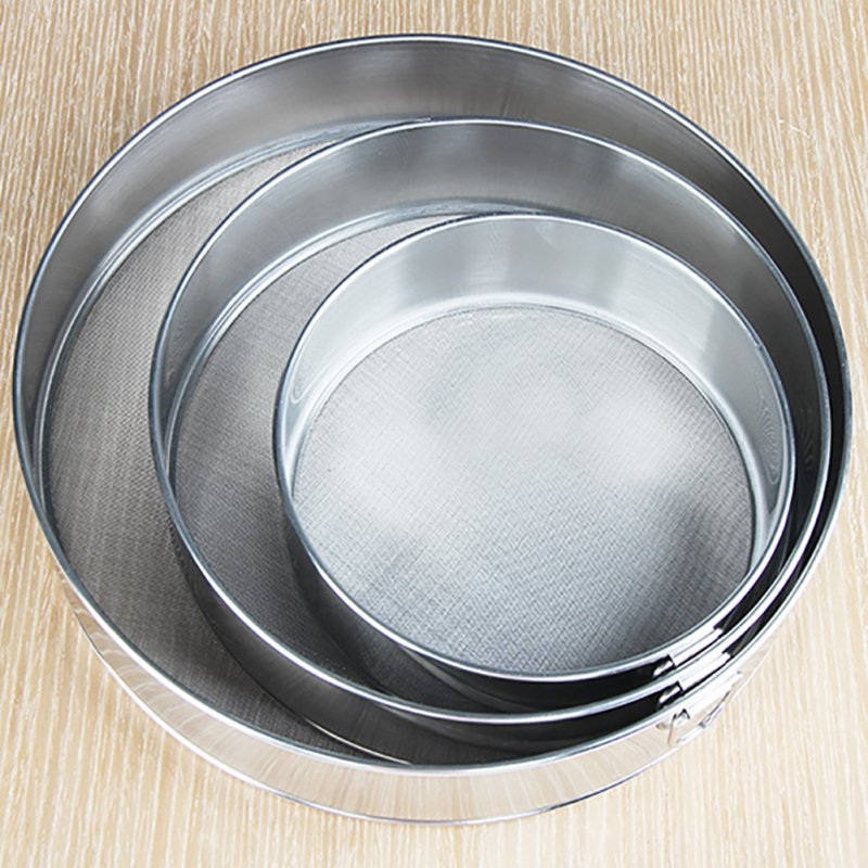 304 Stainless Steel Baking Tool Handheld Ultra-fine 60 mesh Flour Sieve Filter Mesh for Home Use 304 material 25cm (60 mesh)