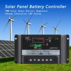 30A 12V / 24V PWM Solar Panel Charge Controller Battery Regulator LED Screen black