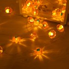 30LEDs Pumpkin Shape Light String Outdoor Holiday Fairy Garland Party Halloween Decoration Warm White
