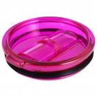30Oz Spillproof Clear Mug Cup Lid Purple