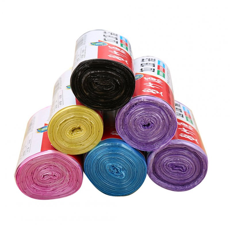 30Pcs/Roll 45x50cm Thicken No Odor Eco-friendly Disposable Garbage Bags Pink