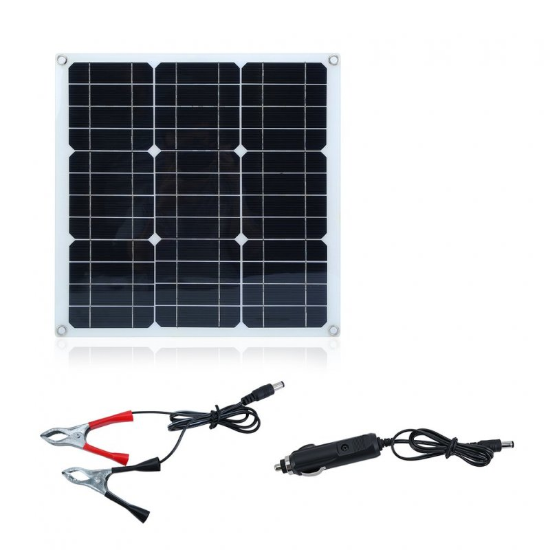 30W Flexible Solar Panel Panels Cell Module DC for Car Yacht RV 12V Battery Boat Outdoor Charger