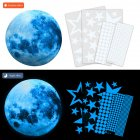 30cm Blue Moon 435pcs Blue Luminous Moon Star Sticker 166pcs Star Decal Decoration 435pcs