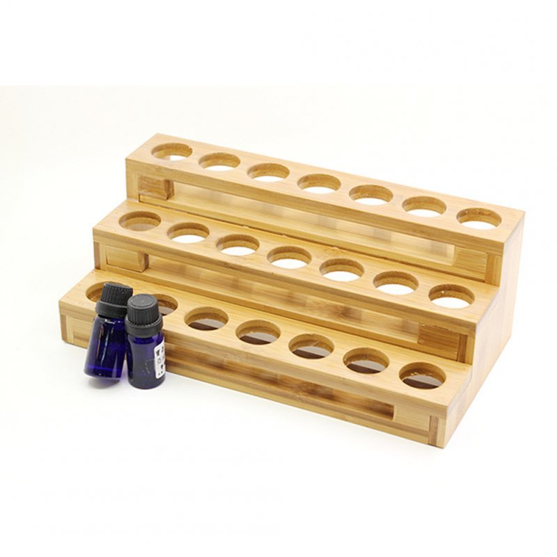 30ml Essential Oil Bottle Display Stand Multi Grid Ladder Classified Storage Box 30ml