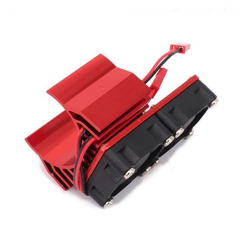 30mm Double Motor Cooling Fan Heat Sink 21000RPM for 1/10 HSP RC Car Modified 540 550 3650 3660 3670 3674 Series red