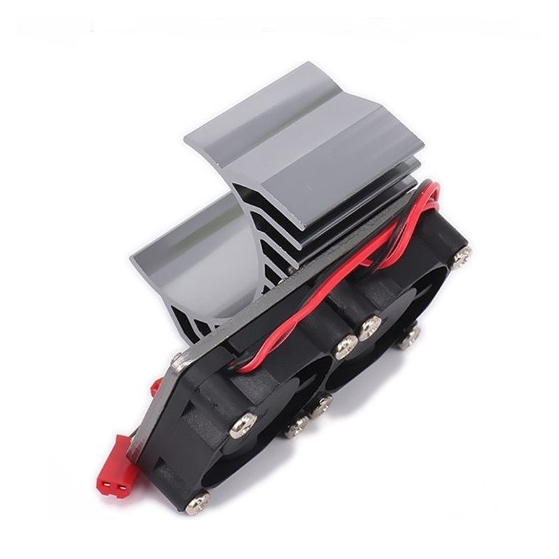 30mm Double Motor Cooling Fan Heat Sink 21000RPM for 1/10 HSP RC Car Modified 540 550 3650 3660 3670 3674 Series Titanium
