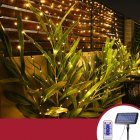 320led 3x2M 204 Solar Net Mesh String Light Outdoor Garden Patio Curtain Light warm light