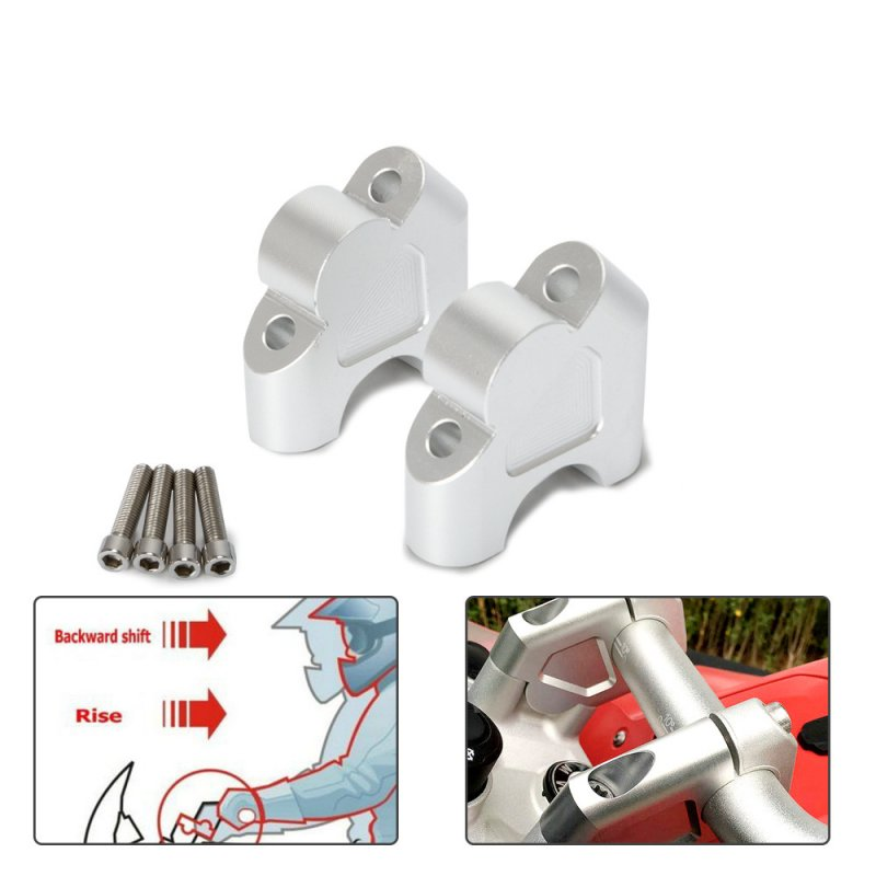 32MM Motorcycle Handlebar Riser Clamp Mount for BMW R1200GS ADV Silver