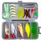 33pcs/set Lure Fish Bait Fishing Gear Accessories Kit 33PCS