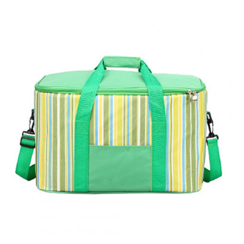 34l Large Capacity Lunch Bag Waterproof Thermal Cooler Insulated Portable Picnic Ice Hot Bag green