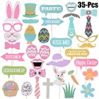 35Pcs Easter Bunny Chick Egg Photo Props Party Make-up Tools