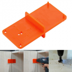 35mm 40mm Hinge Hole Drilling Guide Locator Hole Opener Template Door Cabinets DIY Tool for Woodworking Orange