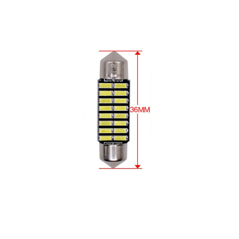 36/39/41mm LED Bulb Bright double - pointed reading lamp 5W Super Bright 4014 16SMD Interior Doom Lamp 36MM white