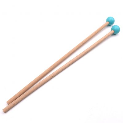 36.5cm Long Marimba Sticks Mallets Xylophone Piano Hammer Percussion Instrument Accessories (OPP) blue