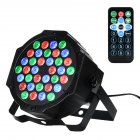 36 LED 1W Par Lights RGB Changeable Color 7 Lighting Modes Stage Lights Remote Control DMX Control Disco Lights US Plug