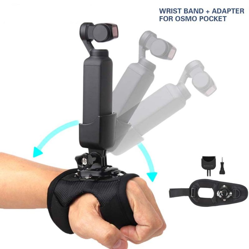 360 Degree Rotable Wrist Band Belt Supporting Adapter for DJI OSMO POCKET  black