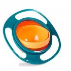 360 Degree Rotary Gyro Shape Balance Bowl for Kids Infant Bbay Feeding green