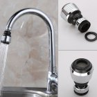 360 Degree Rotating Faucet Filter Tip Water Bubbler Faucet Anti-splash Economizer Kitchen Supplies black