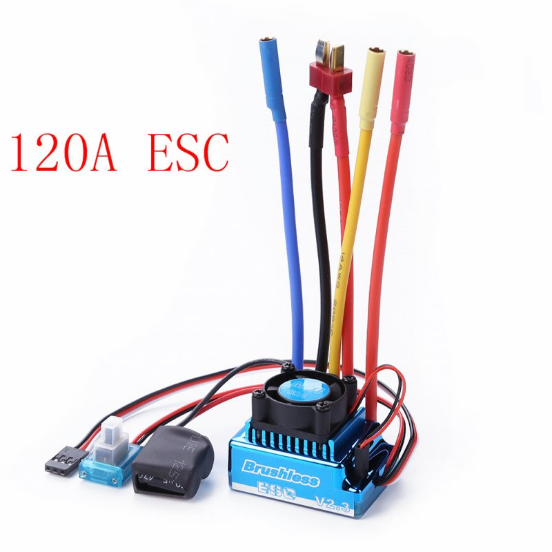 3650 3900KV Brushless Motor & Waterproof 45A 60A 80A 120A Brushless ESC with Program Car Combo for 1/8 1/10 1/12 RC Car RC Boat Part 120A ESC