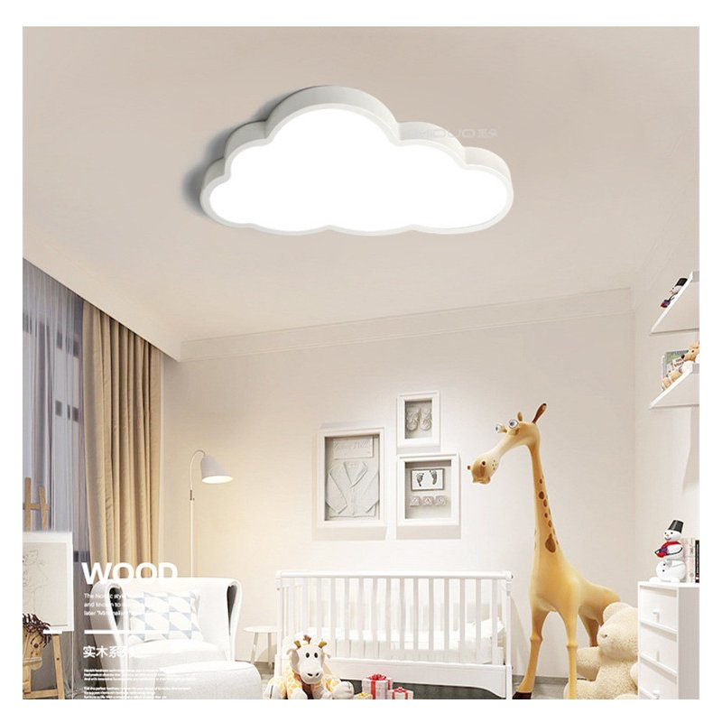 36W/48W LED 220V White Cartoon Cloud Shape Baby kids Bedroom Ceiling Light 3colors dimming_50X28CM 1.7kg_(57x35x12cm 1.7kg)