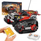 391pcs Creator APP Remote Control Car Bricks Technic RC Tracked Racer Model Building Blocks Toys for Children Gift red