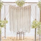 39Inch 33Inch Cotton Thread Hanging Tapestry for Wedding Wall Living Room Bedroom Decor 85 110CM